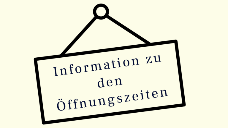 Info Schild